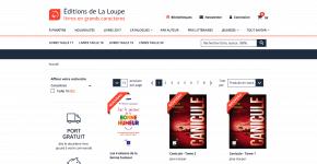 Editions la Loupe : des livres adaptésen gros caractères