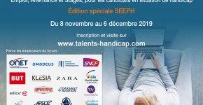 Forum Emploi Talents Handicap: édition en ligne spéciale SEEPH du 8 novembre au 6 décembre