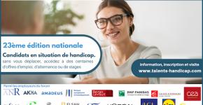 Prochain forum de l'emploi Handicap du 17 septembre au 7 octobre 2021
